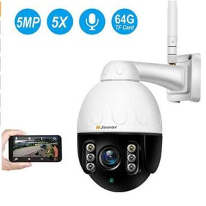 camera de surveillance motorisee ou mobile 5.0 mp ptz jennov